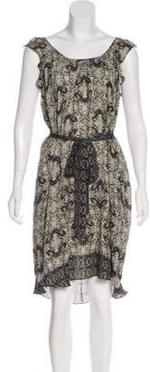L'Agence Sleeveless Silk Dress