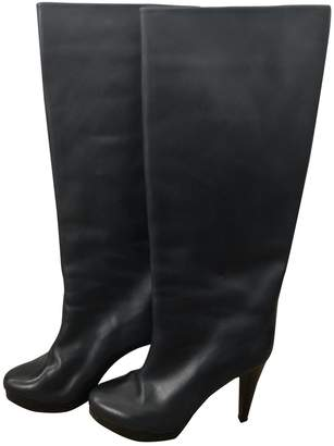 Walter Steiger Navy Leather Boots