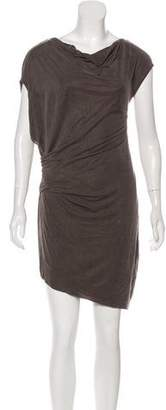 Helmut Lang Drape-Accented Mini Dress