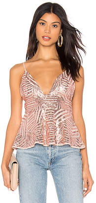 About Us Ranessa Sequin Cami Top