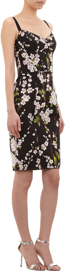 Dolce & Gabbana Cherry Blossom Print Corset Dress