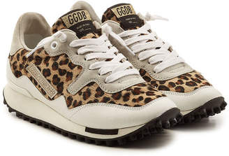 Golden Goose Starland Sneakers with Leather and Printed Pony Hair