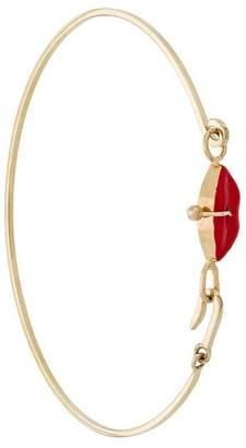Delfina Delettrez 9kt yellow gold Grandma Lips bracelet