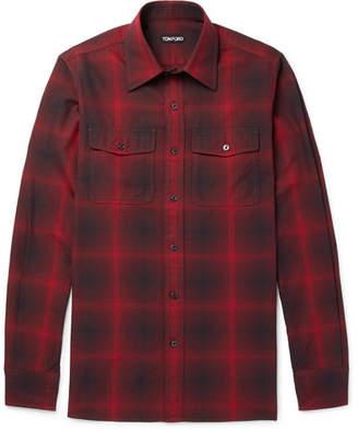 Tom Ford Slim-Fit Checked Cotton Shirt