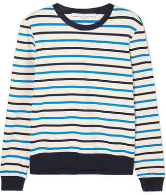 Golden Goose Merak Striped Cotton-jersey Top - Navy