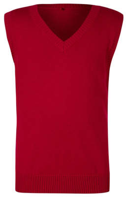 George Boys Red V-Neck School Tank Top