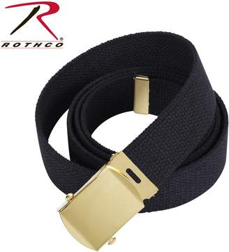 """Rothco Military Web Belts, 54"""" in Black / Chrome"""