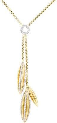 David Yurman 18K Diamond Lantana Drop Necklace