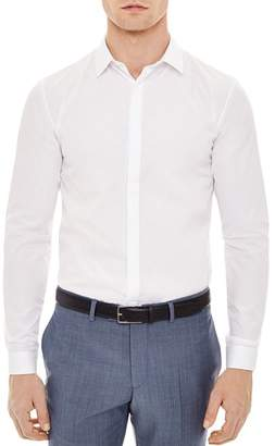 Sandro Hidden Slim Fit Button-Down Shirt