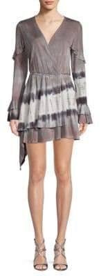 Young Fabulous & Broke Bayberry Ruffled Asymmetrical Mini Dress