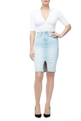 Good American Denim Pencil Skirt - Blue146