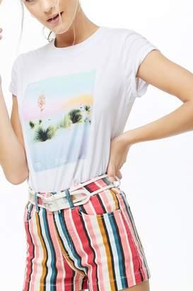 Forever 21 Multicolor Striped Denim Shorts