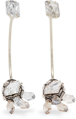 Lanvin - Gold-tone, Pewter And Swarovski Crystal Earrings - Silver $750 thestylecure.com