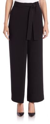 Lafayette 148 New York Eldridge Crepe Belted Pants $398 thestylecure.com