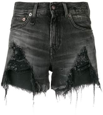 55f270d5ce0 Black Ripped Denim Shorts - ShopStyle Canada