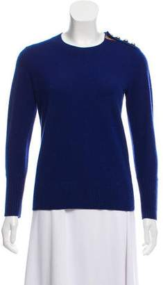 Burberry Button-Accented Cashmere Sweater