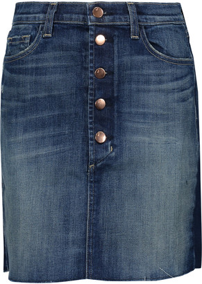 J Brand Rosalie denim mini skirt $178 thestylecure.com