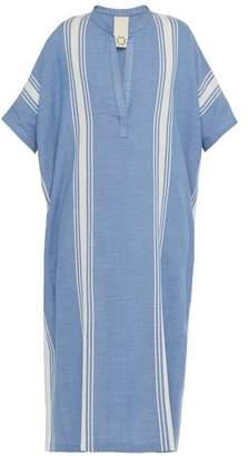 BEIGE Marrakshi Life - Marrakech Striped Cotton Blend Kaftan - Mens - Blue