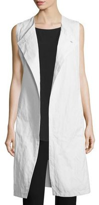 Eileen Fisher Fisher Project Textured Long Vest $398 thestylecure.com