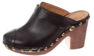 Chanel 2010 CC Platform Clogs