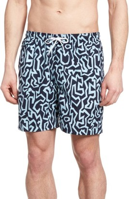 Men's Trunks Surf & Swim Co. San O Squiggle Print Swim Trunks $54 thestylecure.com