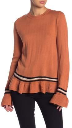 Blu Pepper Ruffle Hem Crew Neck Sweater