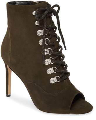 Charles David Charlye Lace-Up Peep Toe Bootie