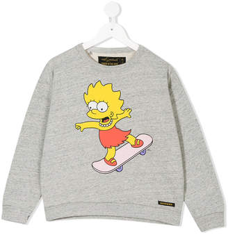 Finger In The Nose The Simpsons print sweatshirt