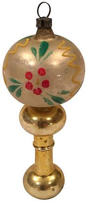 One Kings Lane Vintage Fancy Blown Glass Table Lamp Ornament