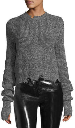 Helmut Lang Crewneck Long-Sleeve Knit Sweater