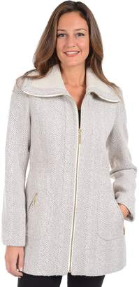 Kensie Women's Tweed Midweight Coat