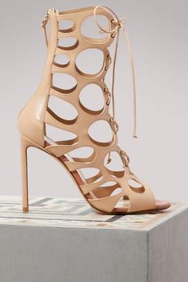 Francesco Russo Cut laced boots