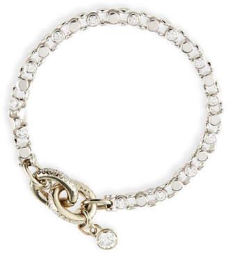 Oscar Heyman 18K White Gold Partial Diamond Watch Bracelet