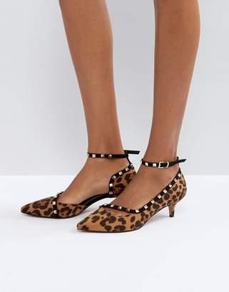 Asos SABRE Studded Kitten Heels