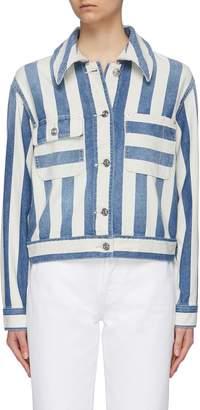 Current/Elliott 'The Sammy' stripe folded shoulder denim jacket