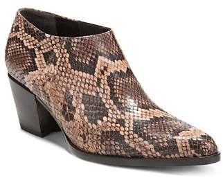 Vince Women's Hamilton Snakeskin-Embossed Leather Booties