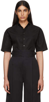 Beautiful People Black Silk Gaba Tuxedo Shirt