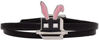 McQ Alexander Mcqueen Black Electro Bunny Mini Wrap Bracelet $95 thestylecure.com