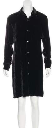 Equipment Velvet Shirt Dress