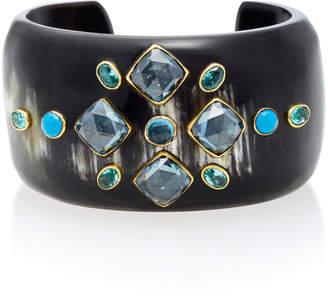 Ashley Pittman Jamii Horn Multi-Stone Bangle