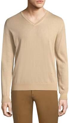 Isaia Men's Cashmere V-neck Sweater