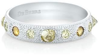 De Beers White Gold Talisman Half Pavé Ring