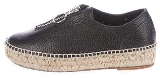 Alexander Wang Leather Platform Espadrilles