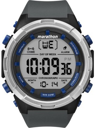 Timex Marathon By Marathon by Men's Digital 50mm Gray/Black/Blue Watch, Resin Strap
