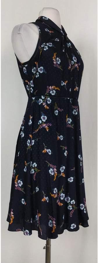 Rebecca Taylor- Navy Silk Floral Dress Sz 2