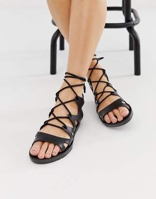 ce67e1644a9d Asos Design DESIGN Felicity jelly tie leg flat sandals