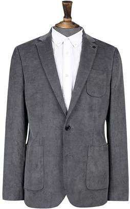 Burton Mens Cord Skinny Fit Stretch Blazer