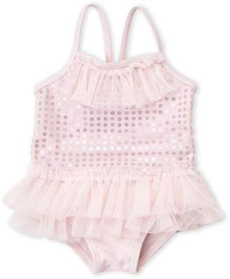 Baby Essentials Sol Swim (Infant Girls) Tiny Dancer Sequin Tutu One-Piece Swimsuit