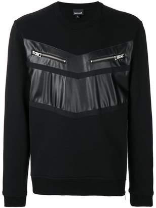 Just Cavalli chest zipped pockets sweatshirt