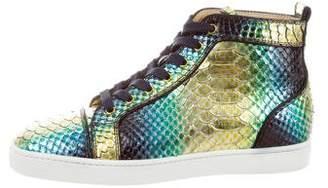 Christian Louboutin Metallic Snakeskin Sneakers